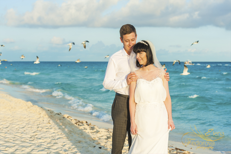 beach cancun wedding image