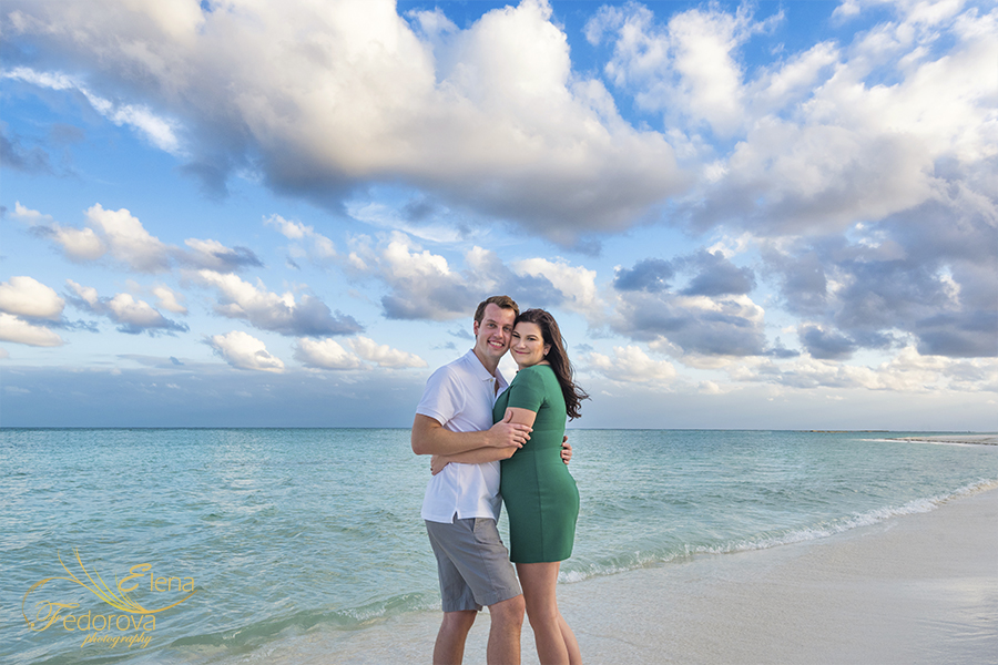 sunset engagement images mexico cancun