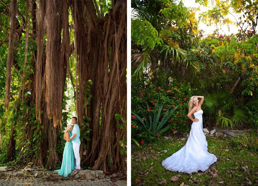 honeymoon photoshoot in Playa del Carmen