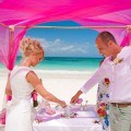 Symbolic ceremony on one of the beautiful beaches in Riviera Maya!