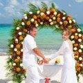 Flower paradise in Riviera Maya.