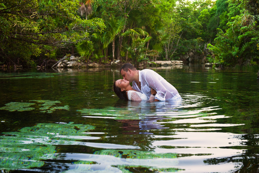 cenotes trash the dress photos