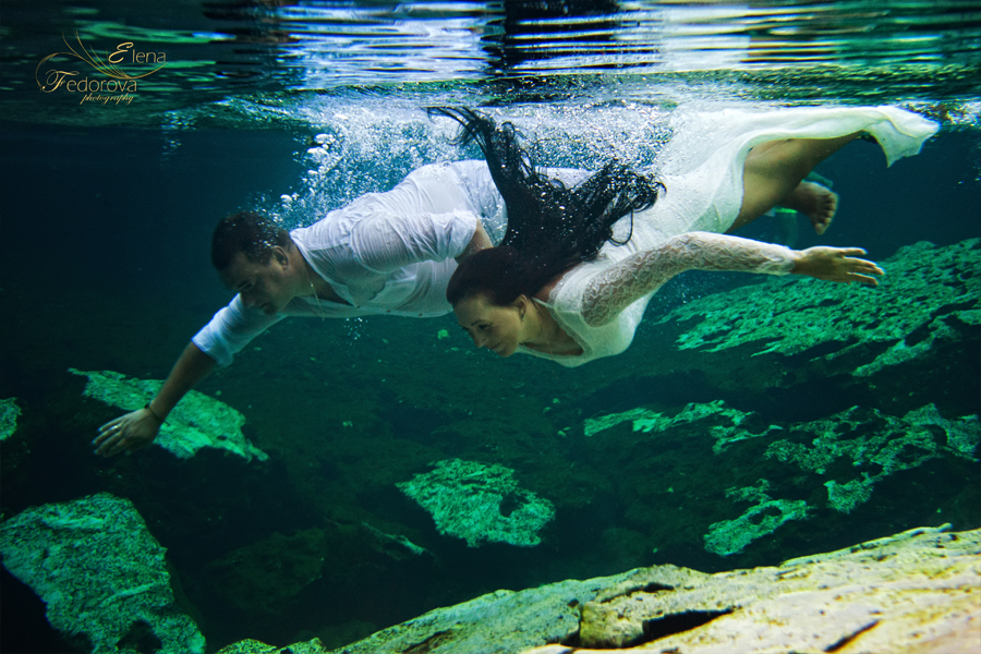 photo shoot underwater riviera maya