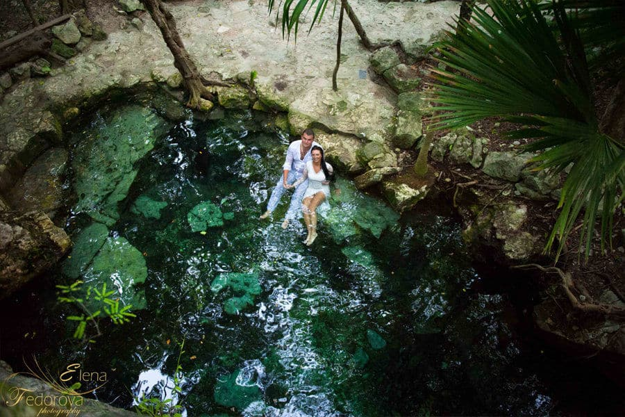 trash the dress photo session cenote