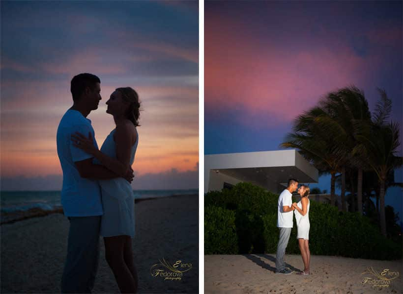 sunset photo session riviera maya
