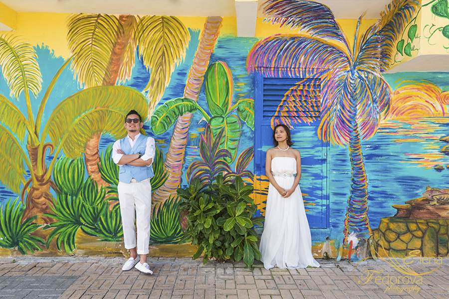 isla mujeres colorful photo sessions
