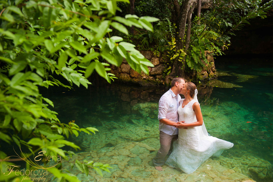 riviera maya honeymoon photo session