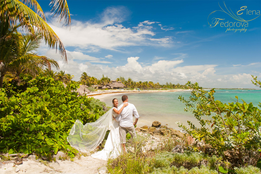 riviera maya honeymoon photo shoot