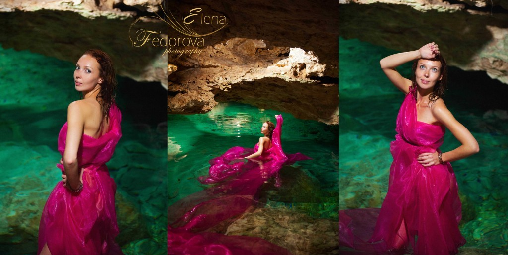 photosession in cenotes