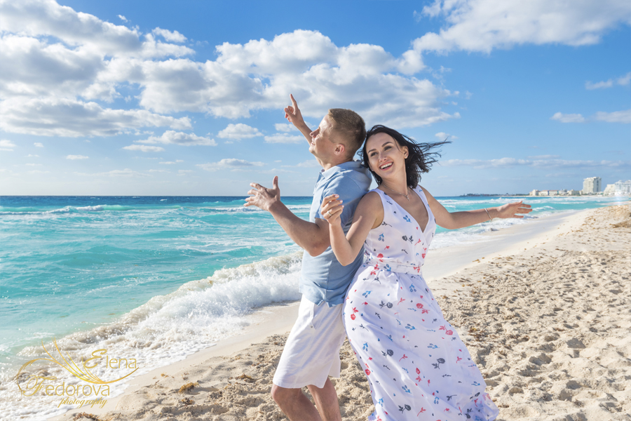 couple beach style photography
