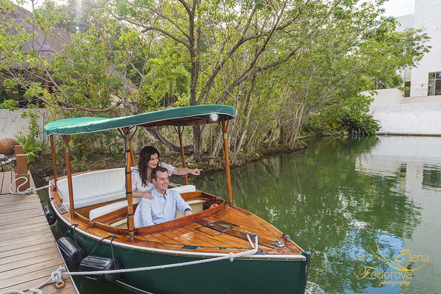 couple on boat riding