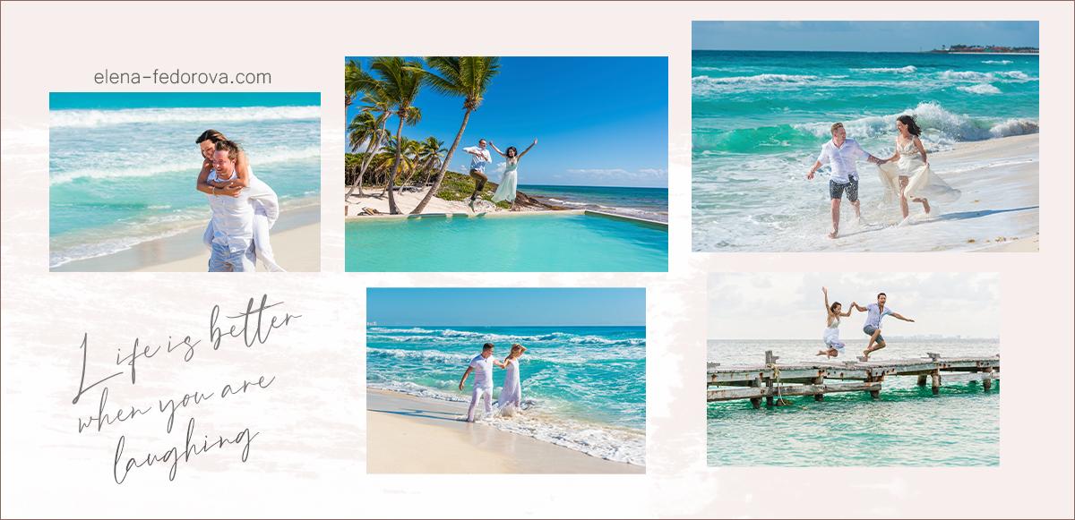 fun honeymoon photoshoot
