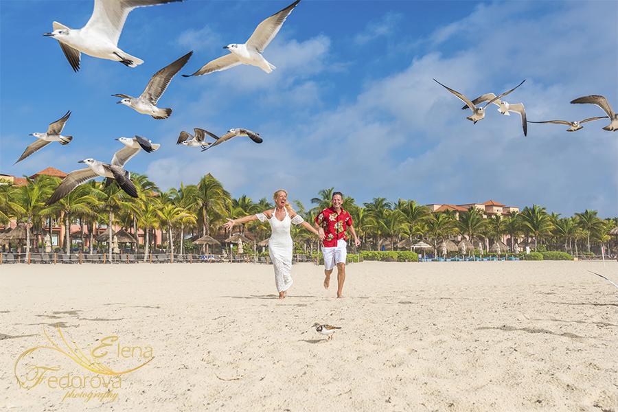 honeymoon beach happy