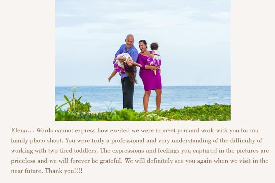 playa del carmen family photographer reviews
