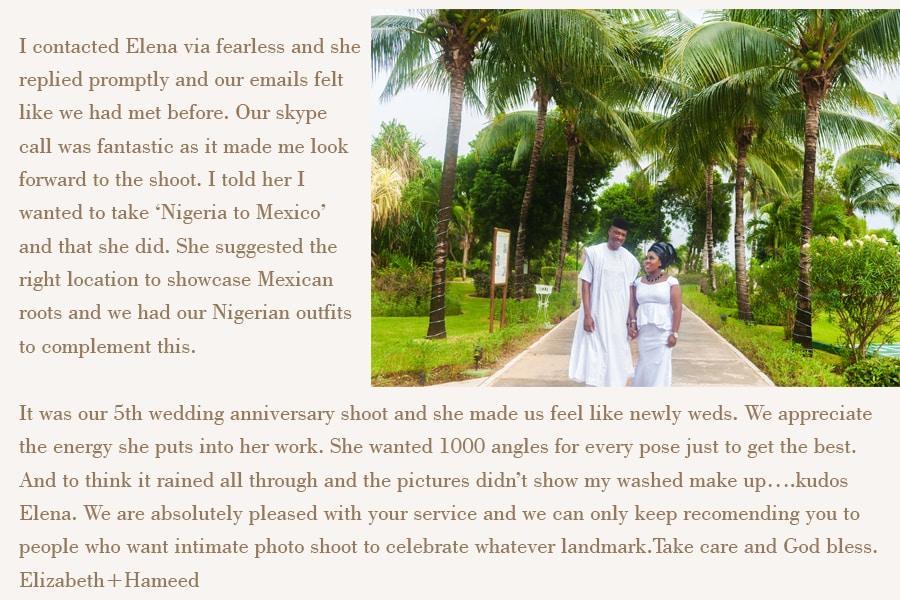 playa del carmen honeymoon photographer reviews