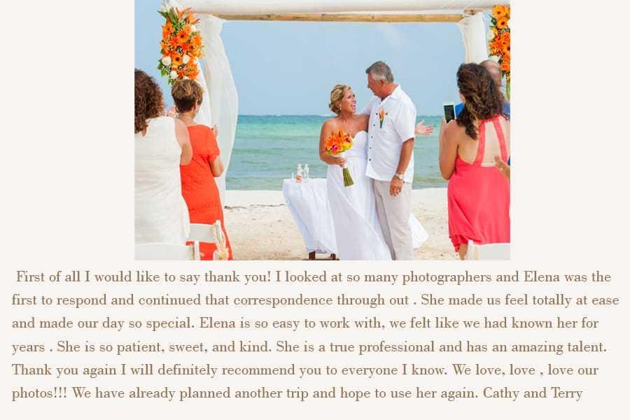 playa del carmen wedding photographer reviews