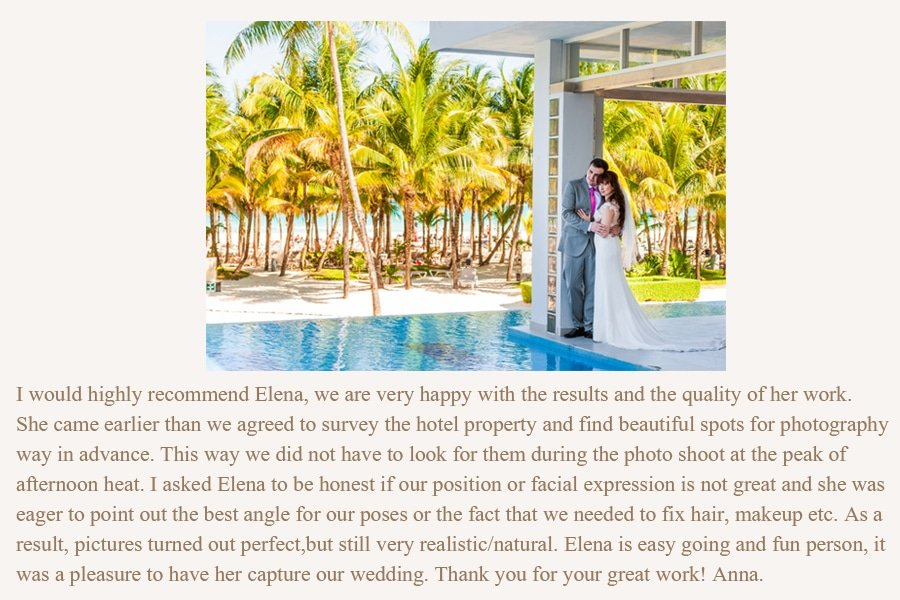review photographer cancun elena