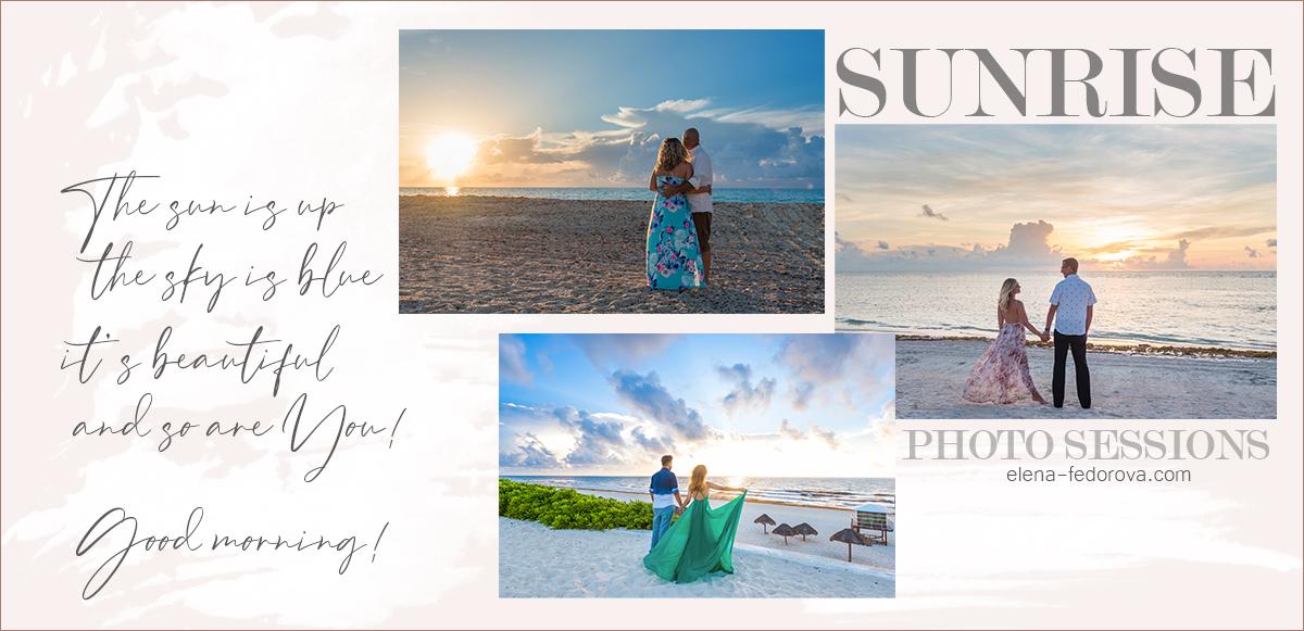sunrise honeymoon photosessions in cancun