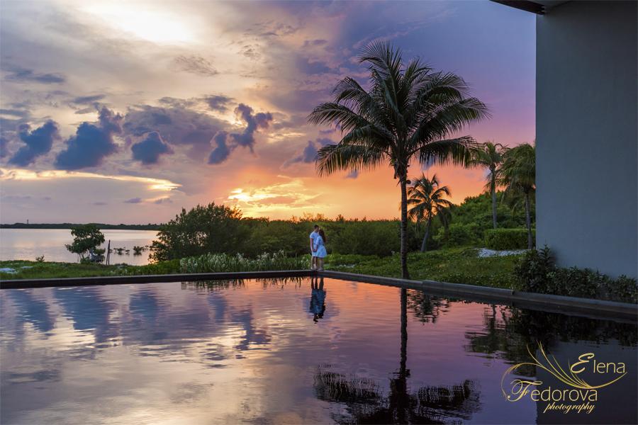 sunrise sky in cancun