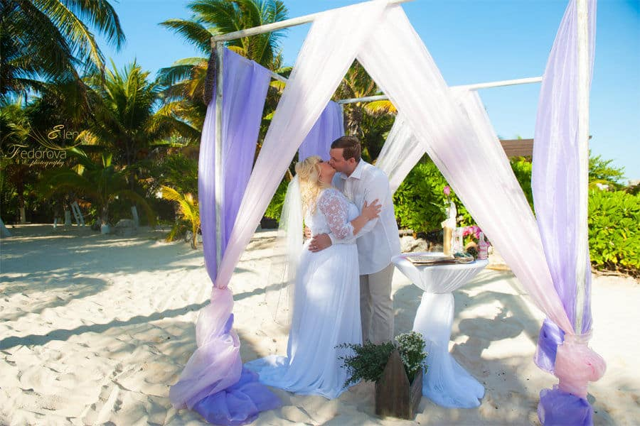 wedding photos from playa del carmen