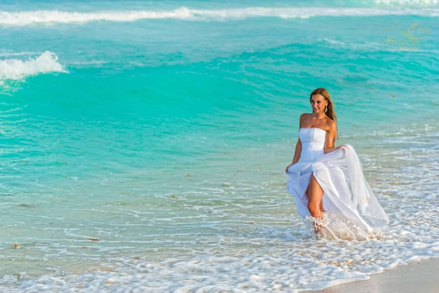 bridal portrait cancun