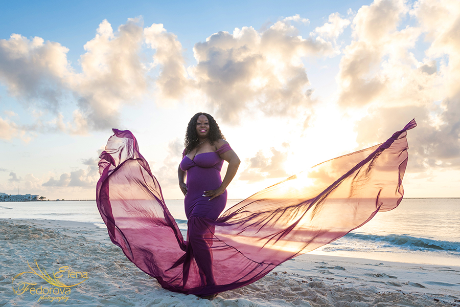 cancun flying dress photo shoot
