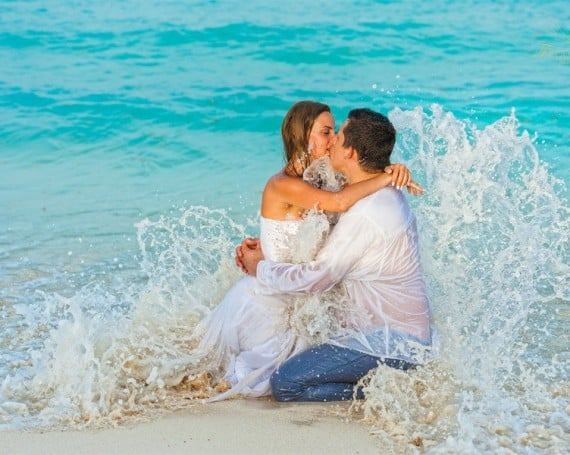 Enjoy the moment! Trash the dress photo session.