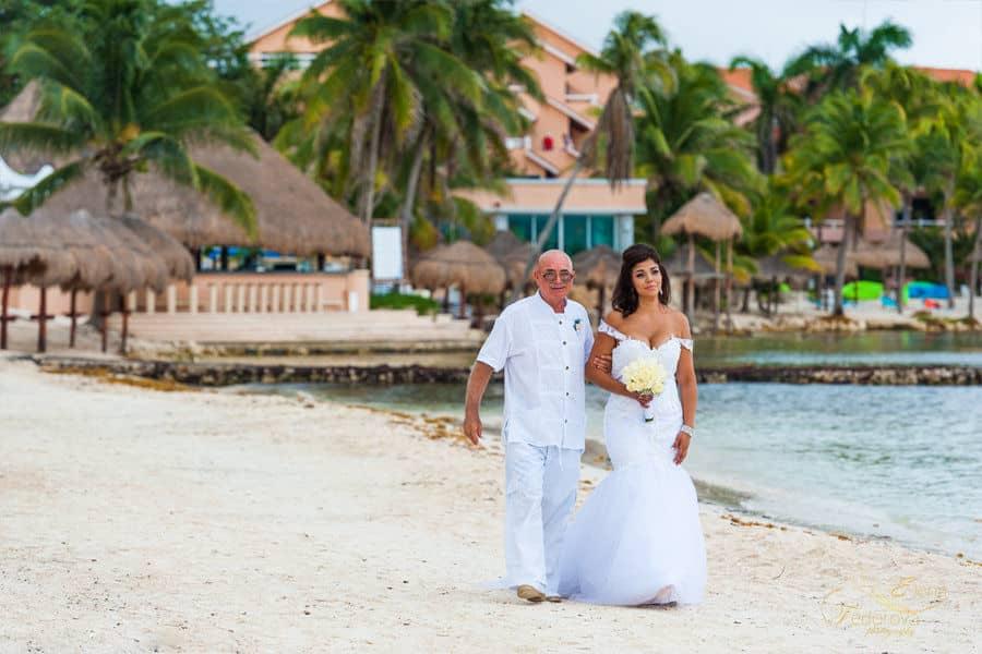 bride on the beach photo