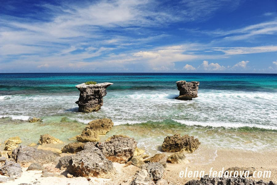 pictures of isla mujeres seashore