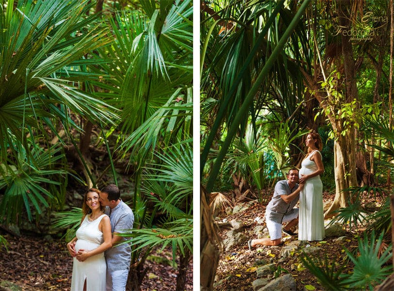 maternity photo session riviera maya