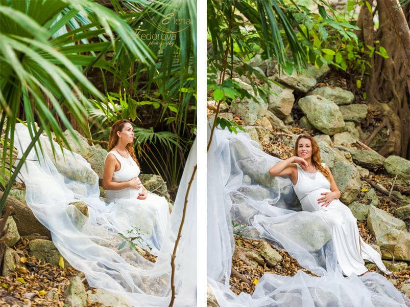 maternity photos playa del carmen