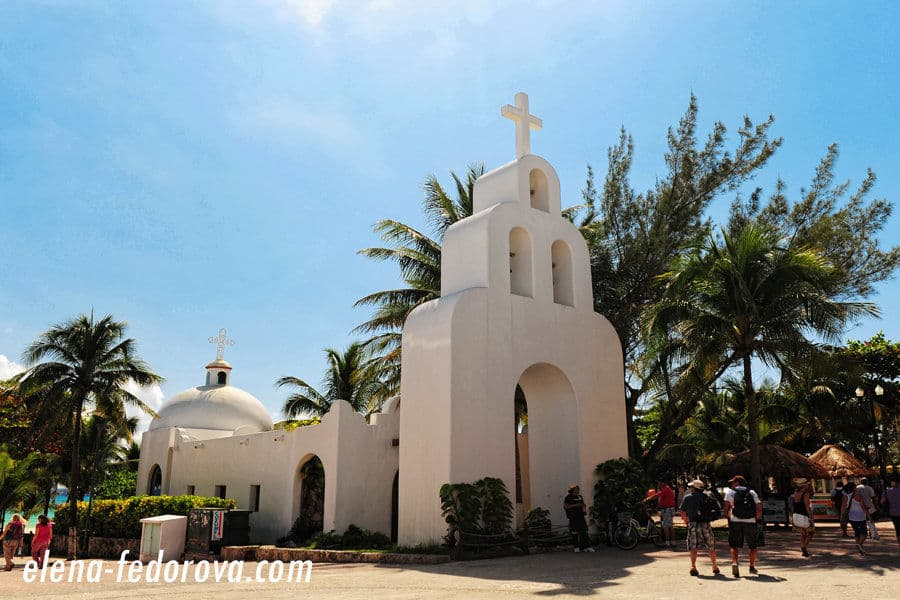 church in playa del carmen