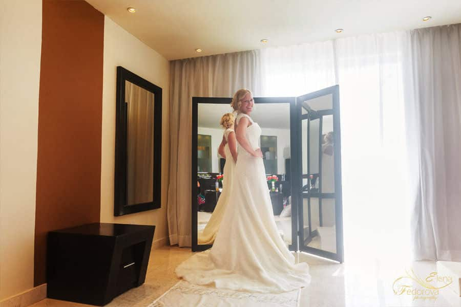 oasis tulum bride getting ready