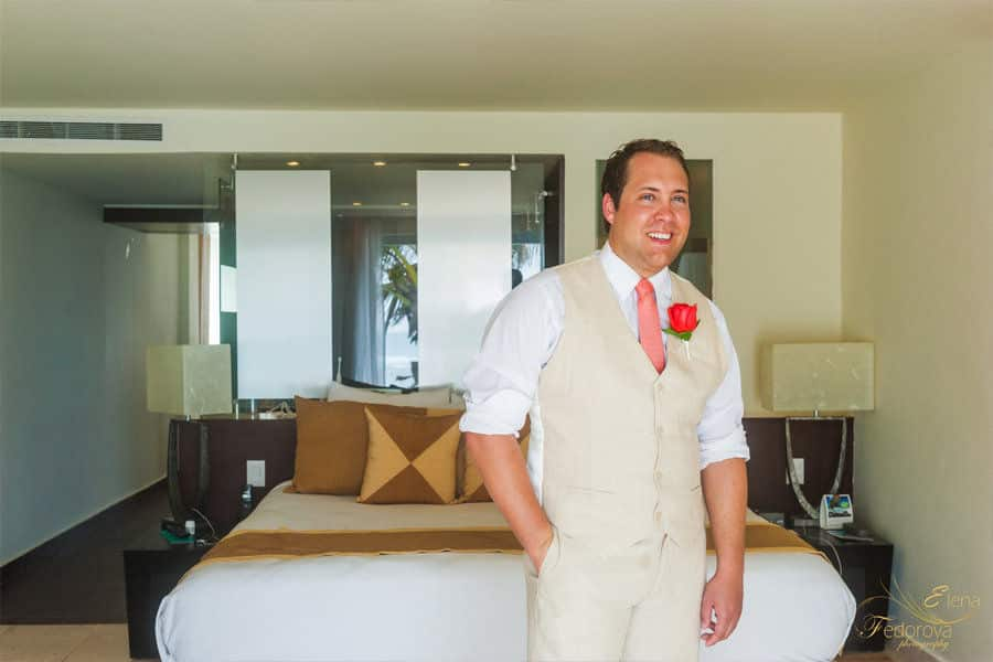 groom getting ready oasis tulum