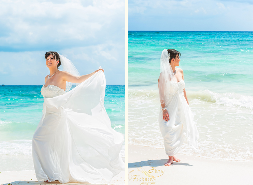 bridal beach portraits