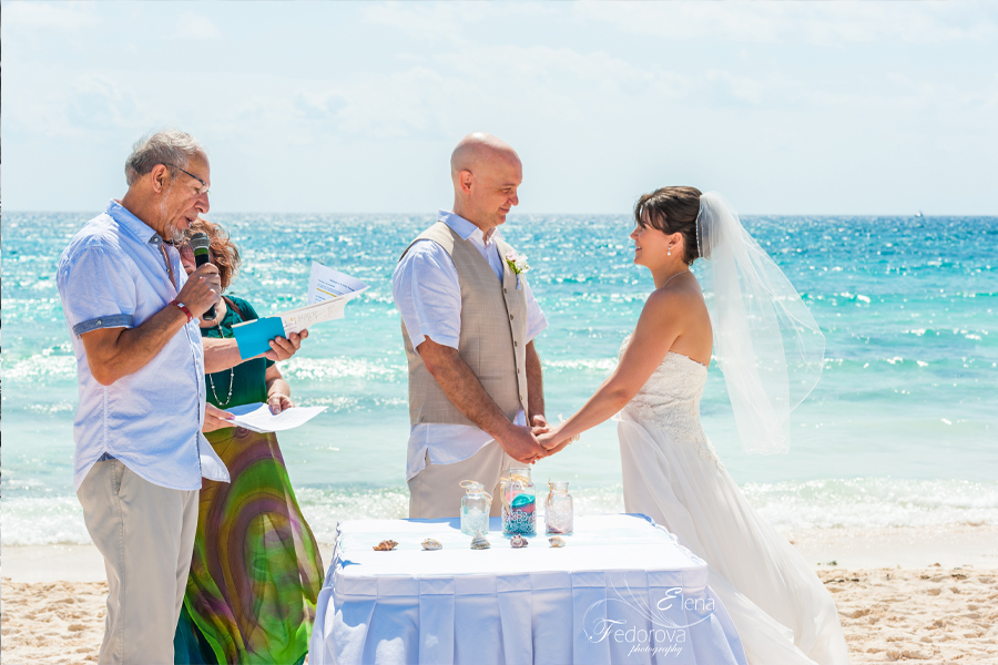 beach wedding barcelo colonial