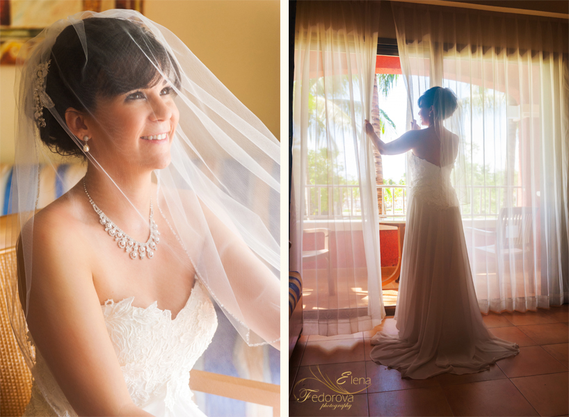 bride in barcelo colonial wedding