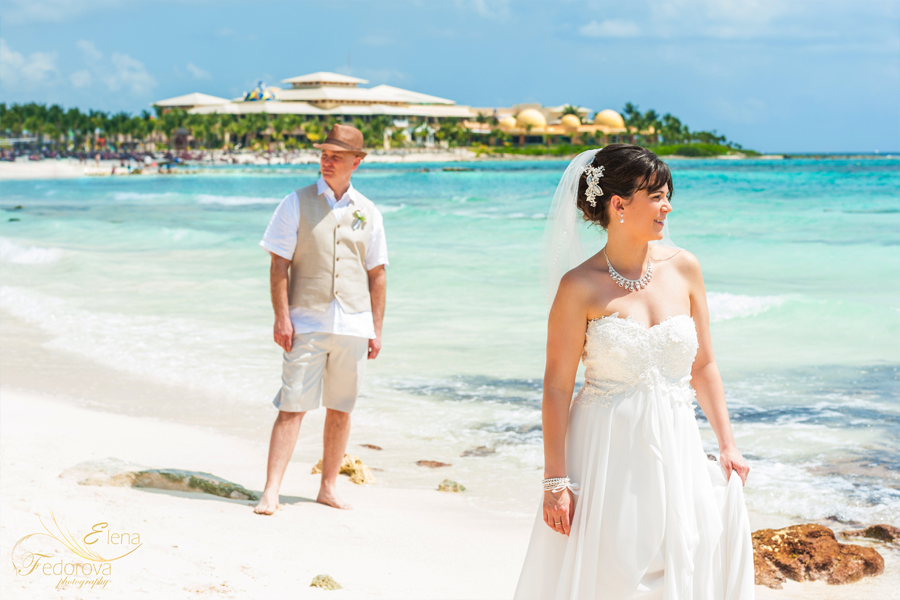 Mexico destination wedding in Barcelo Colonial Riviera Maya