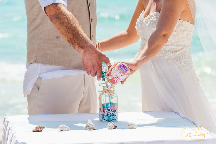 sand ceremony on the beach