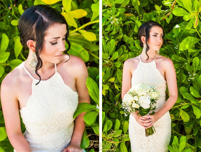 bridal portrait isla mujeres