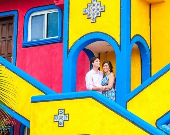 Engagement photo shoot in Akumal.