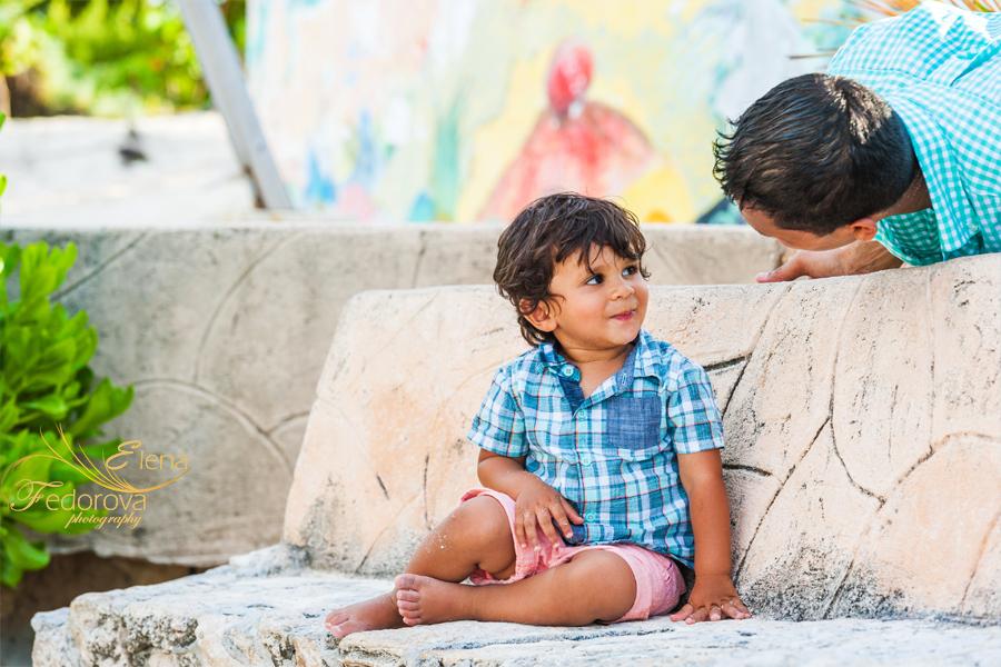 cute family photos cancun