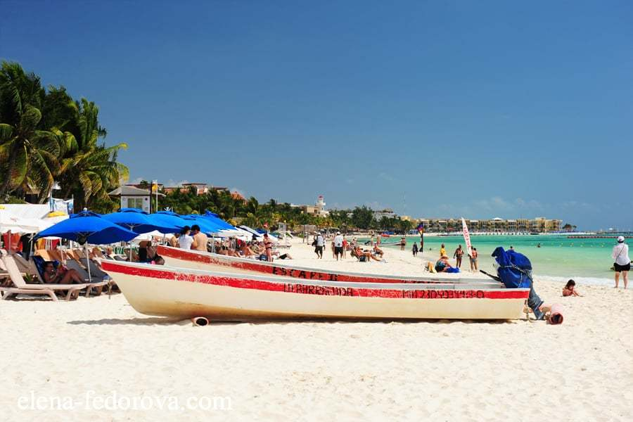 what are the beaches in playa del carmen