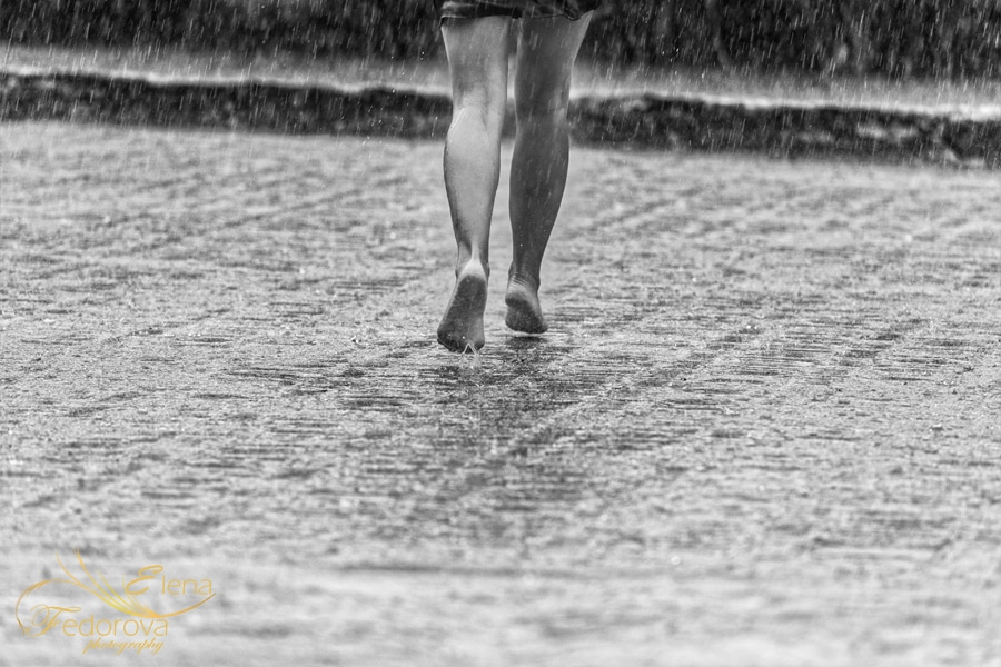 running under rain
