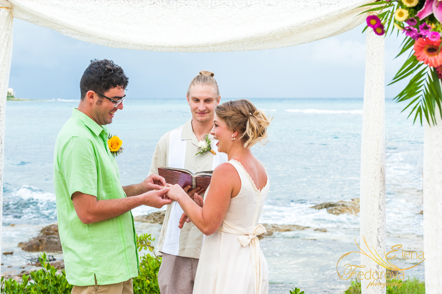 akumal wedding ceremony beach