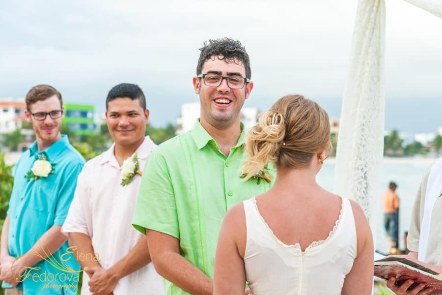 groom smiling photo