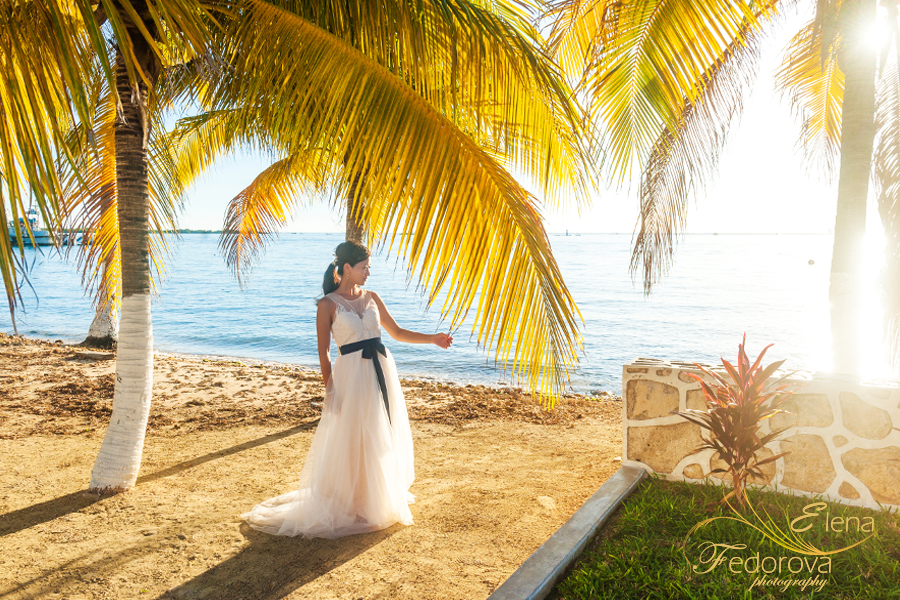 isla mujeres bridal photo shoot