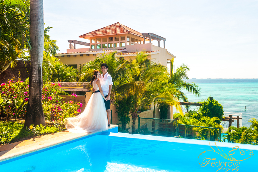 romantic photo shoot wedding isla mujeres