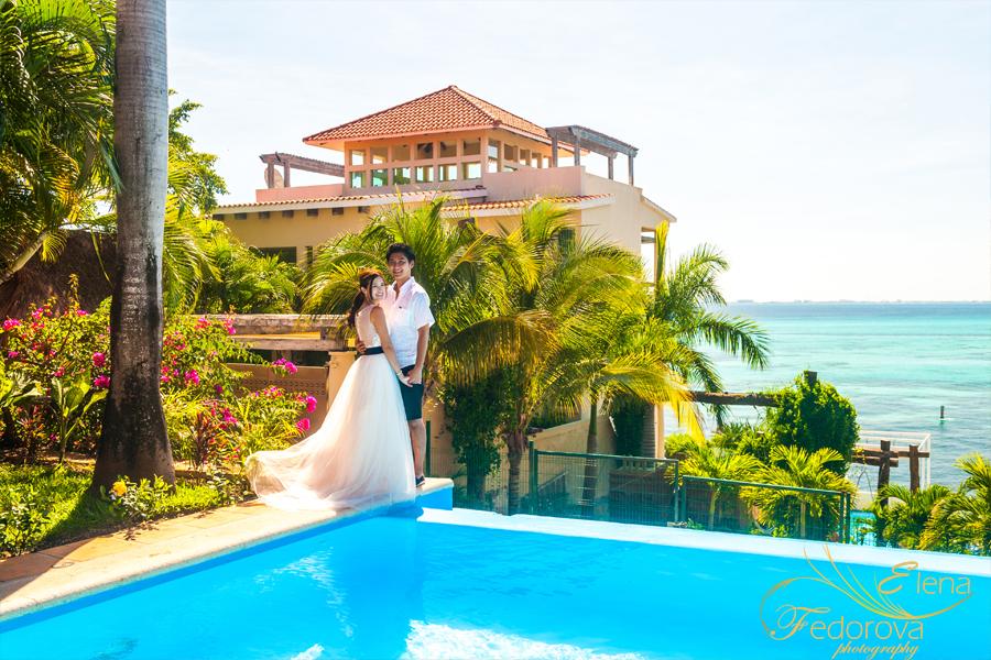 romantic photo shoot wedding isla mujeres