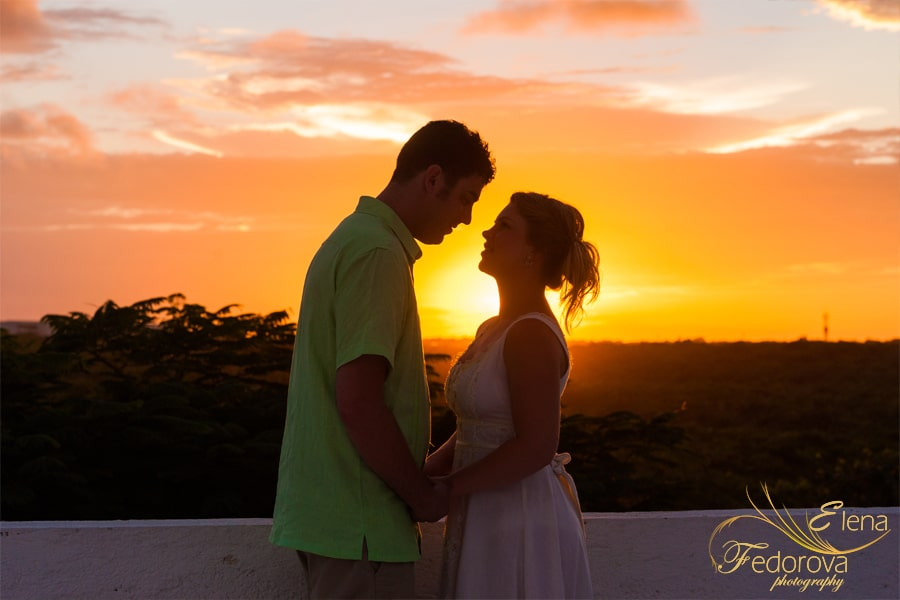 sunset wedding akumal